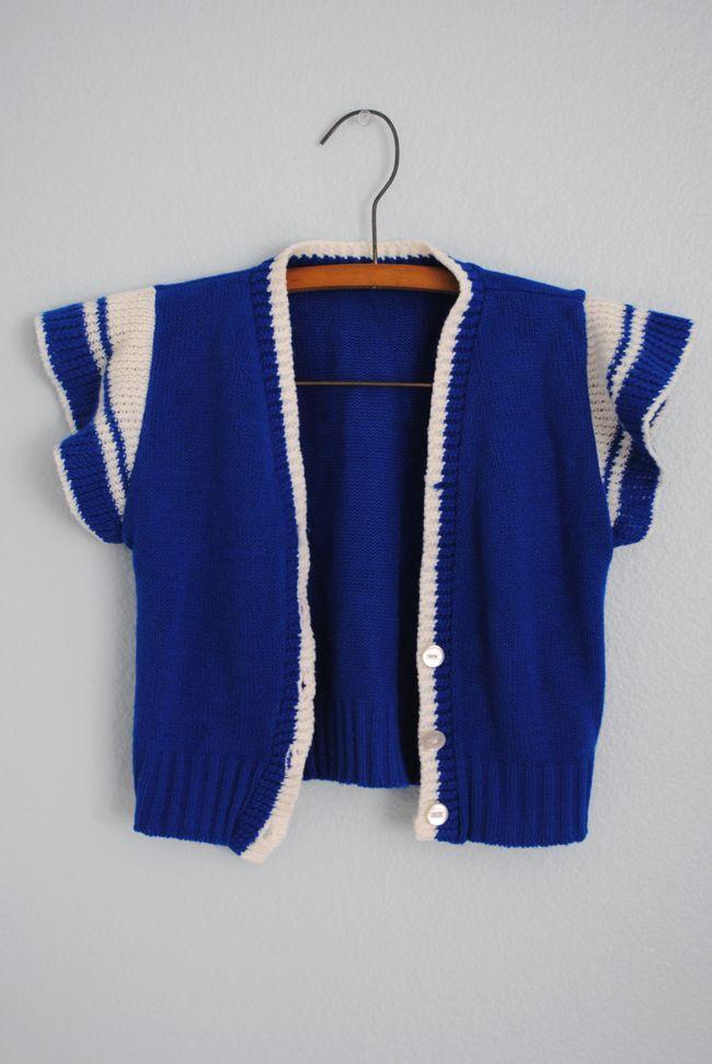 Vintage blue vest