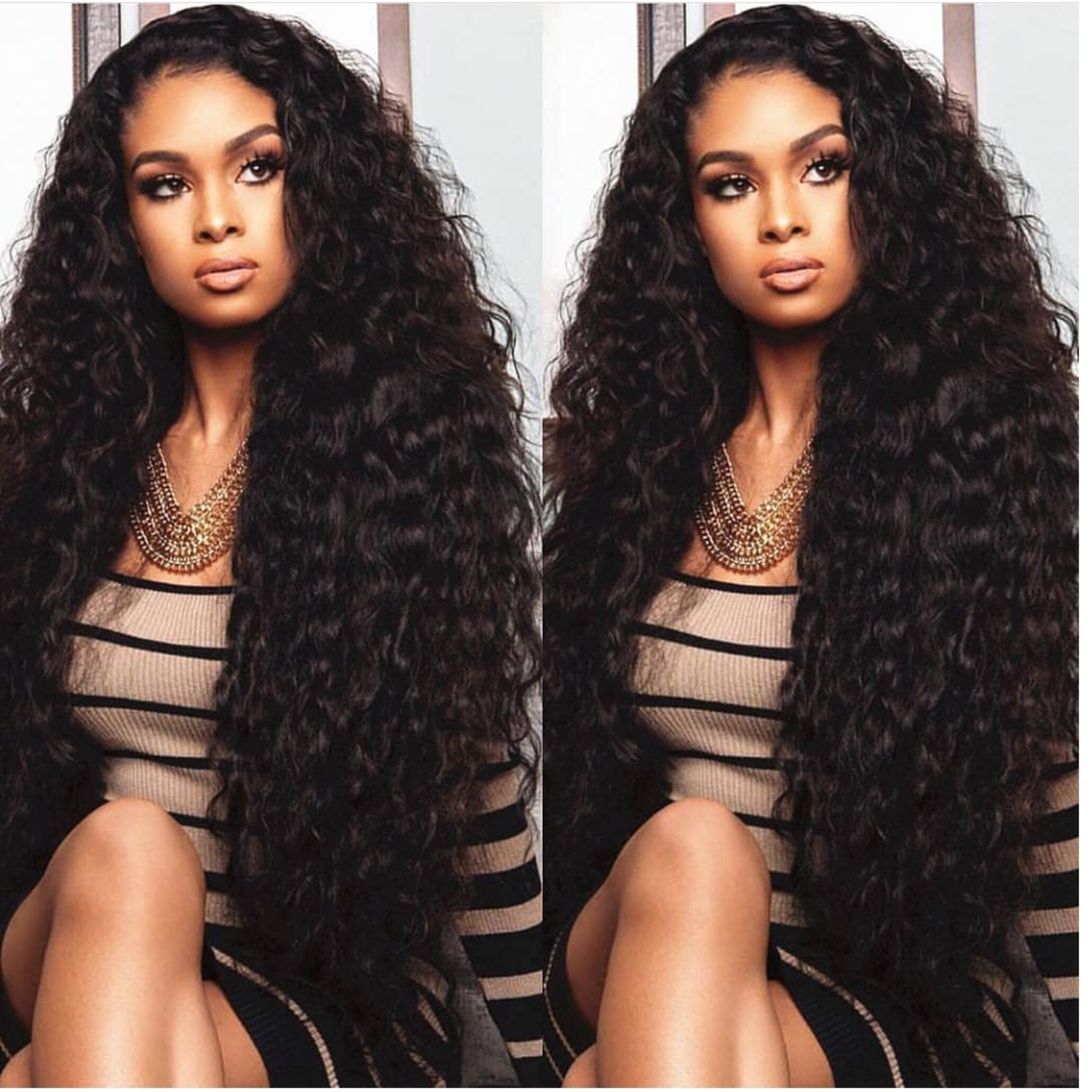 Brazilian Virgin Remy Curly Human Hair Full Lace Wig-Part ...