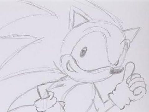 Line Drawing Hedgehog : How to draw sonic the hedgehog grand kids