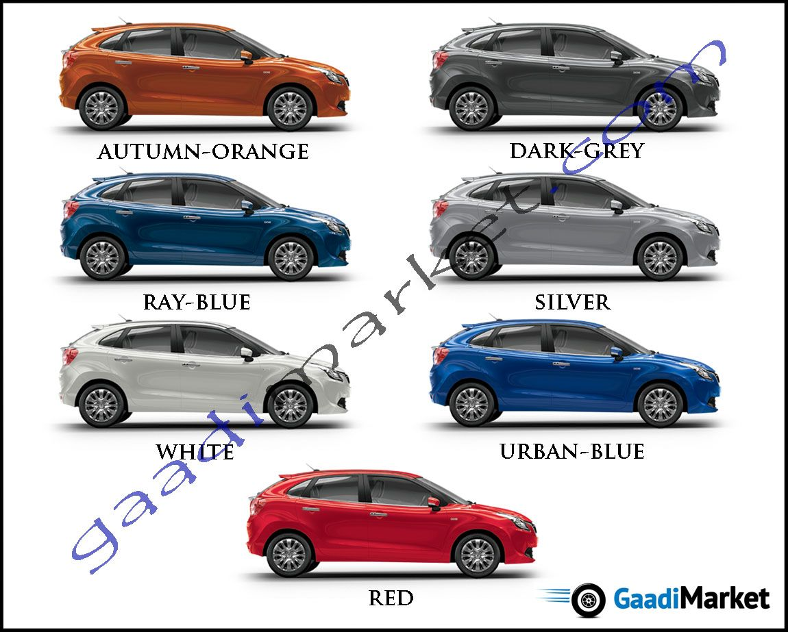 Maruti Baleno Rs Colors Blue Orange Red Grey Silver Urban