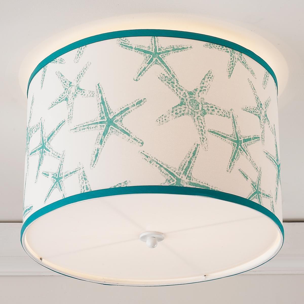Starfish Drum Shade Ceiling Light | Drum shade, Starfish and Drums