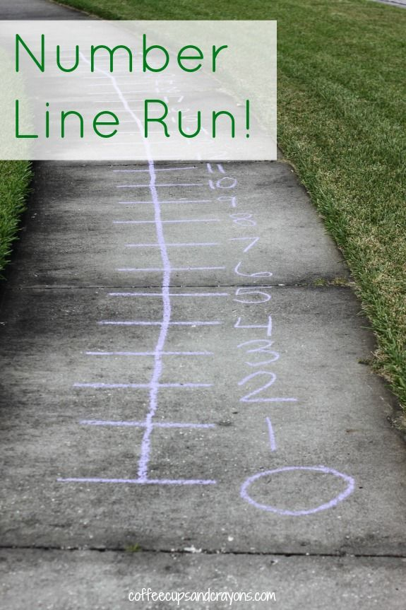 Number Line Run Math Game Preschool Math Math For Kids