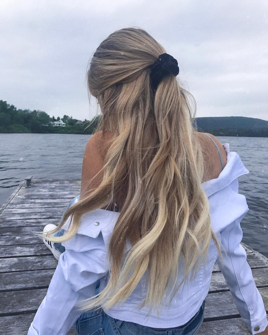 half up half down | princess hairstyle | loose curly | curls