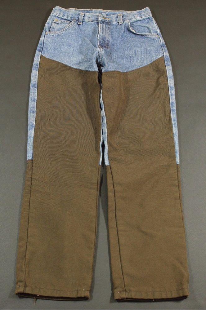 Wrangler Pro Gear Jeans Women Size 16 Regular Hunting Rodeo Pants Reinforced Leg #Wrangler #StraightLeg