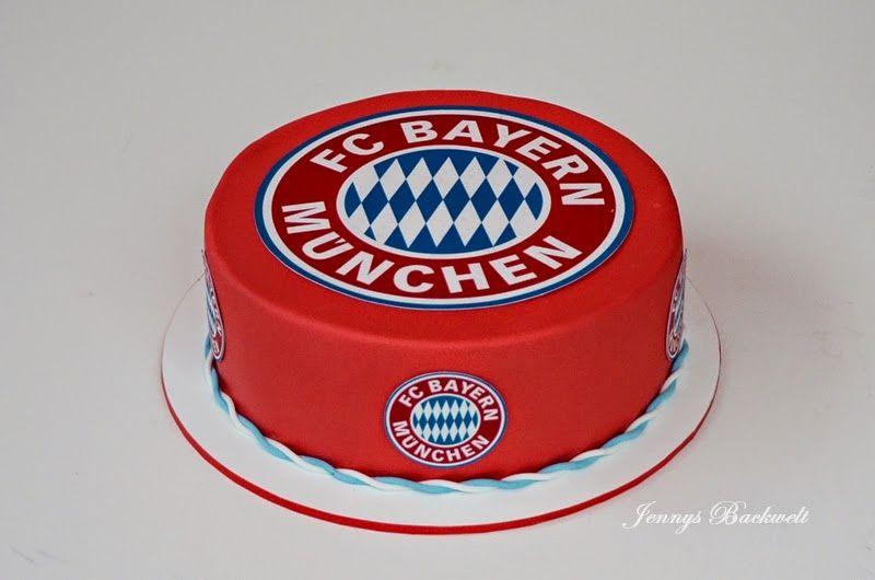 jennys backwelt: bayern münchen torte   kitchen ❤   pinterest