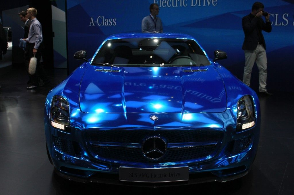Candy Paint Mercedes Benz Sls Amg Blue Metallic Car Painting