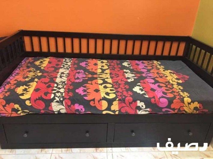 Lt Div Gt Lt Div Gt Lt Span Gt للبيع كنبة هيكل سرير نهاري مع 2 أدراج بني ر س 1100 هيكل سرير نهاري مع 2 أدراج بني من ايكيا مع الفرشة Bed Toddler Bed Decor