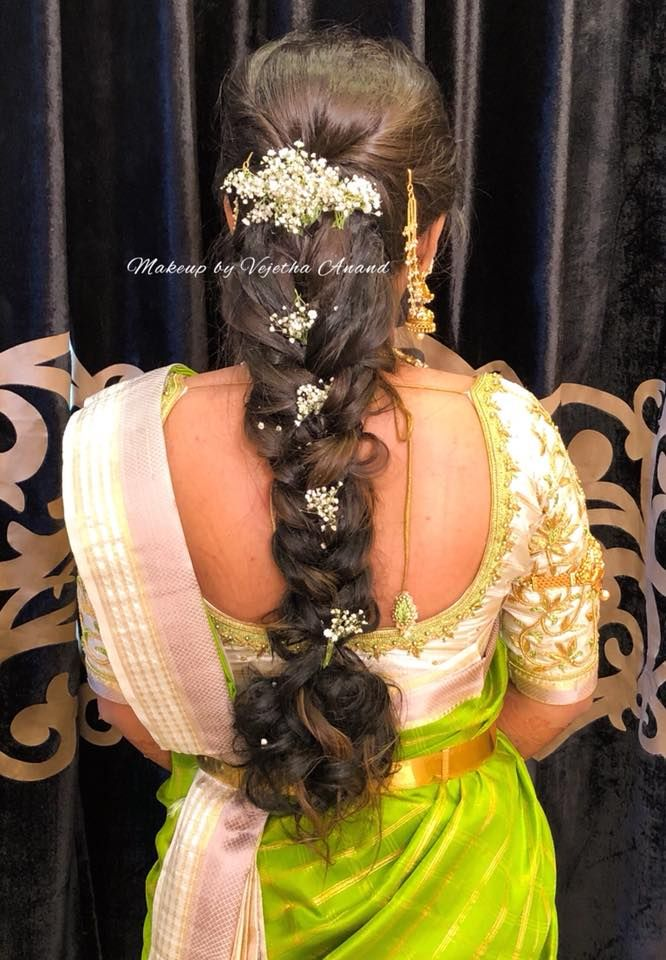Spring Is In The Hair Easy Yet Beautiful Bridal Braid Hairstyle By Vejetha For Swank Braids With Flo Braided Hairstyles For Wedding Bridal Braids Hair Styles