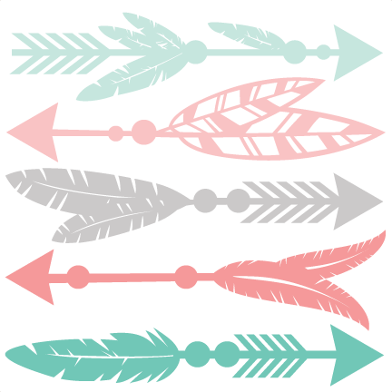 Feather Arrow Set Svg Scrapbook Cut File Cute Clipart