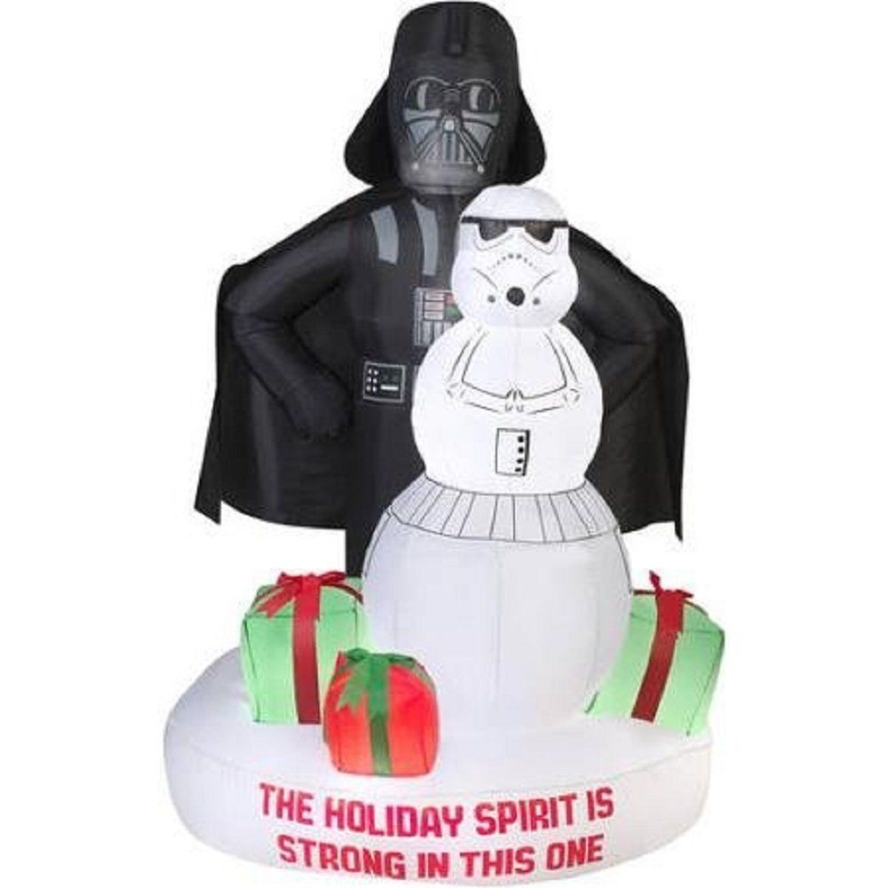 inflatable star wars air blown christmas decoration xmas home yard - Star Wars Inflatable Christmas Decorations