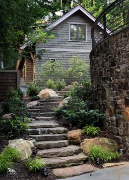 Stone stairs with stones