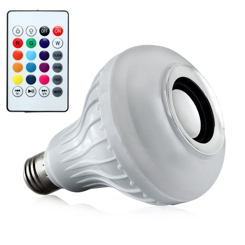 Agptek bluetooth speaker light bulb e27 smart led rgb
