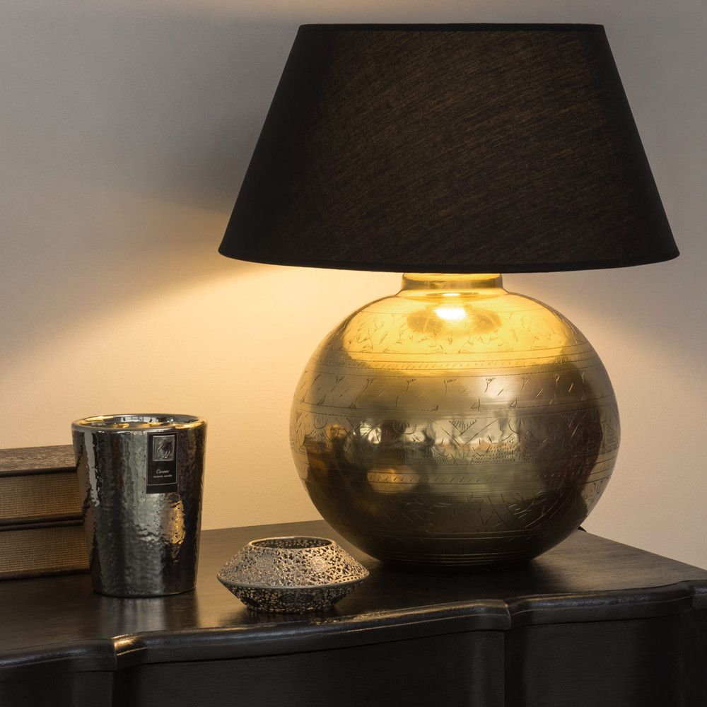 Masala Lamp In Gold Effect Metal Abat Jour En Tissu Abat Jour Lustre Maison Du Monde