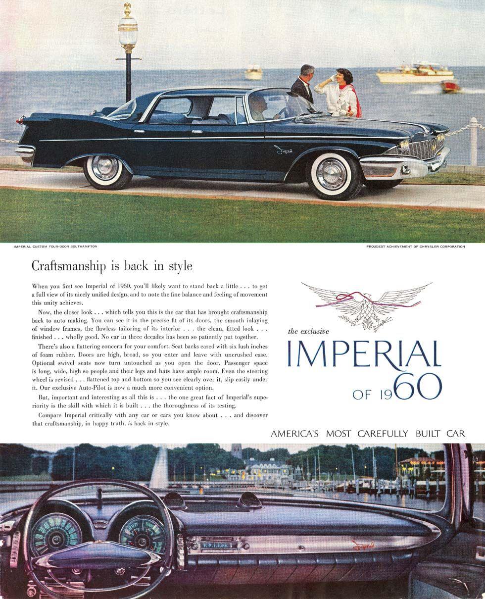 1960 60 Chrysler Full Line Original Sales  brochure
