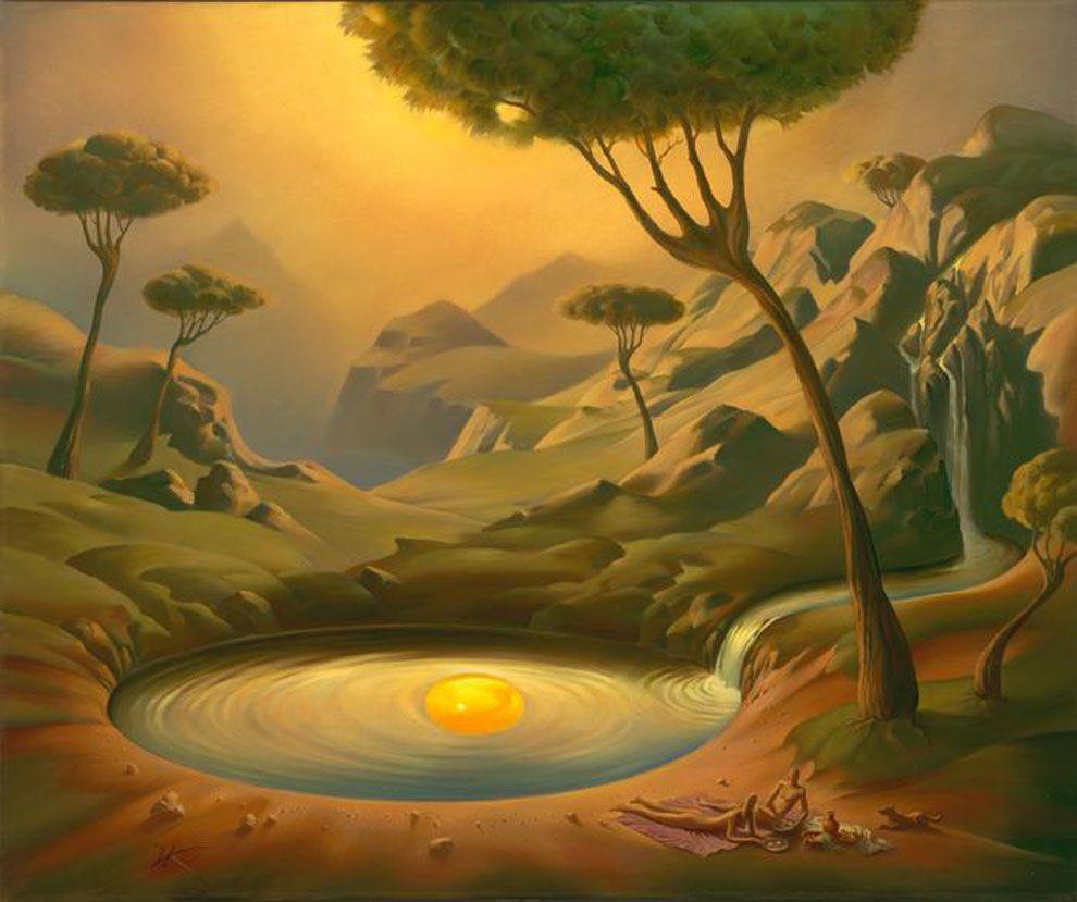 Landschaftsmalerei surrealismus  Vladimir Kush | Vladimir Kush | Pinterest