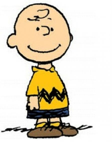 "Charlie Brown: first appearance October 2, 1950 ""Good ol' Charlie Brown"" is the lovable loser in the zig-zag t-shirt—the kid who never gives up (even though he almost never wins). He manages the world's worst baseball team...yet shows up for every game. He can't muster the courage to talk to the Little Red-Haired girl...yet keeps hoping. Even though he gets grief from his friends, his kite-eating tree, even his own dog, Charlie Brown remains the stalwart hero."