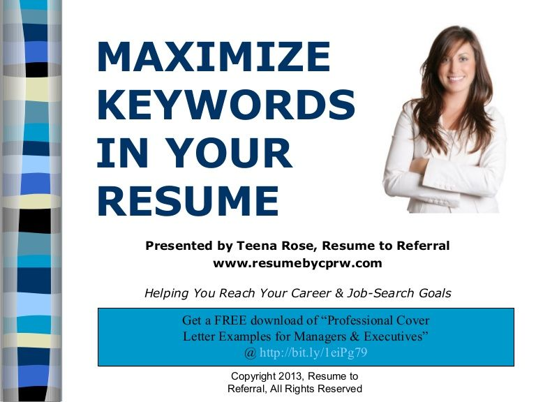 How to maximize keywords in your resume Cover letter for