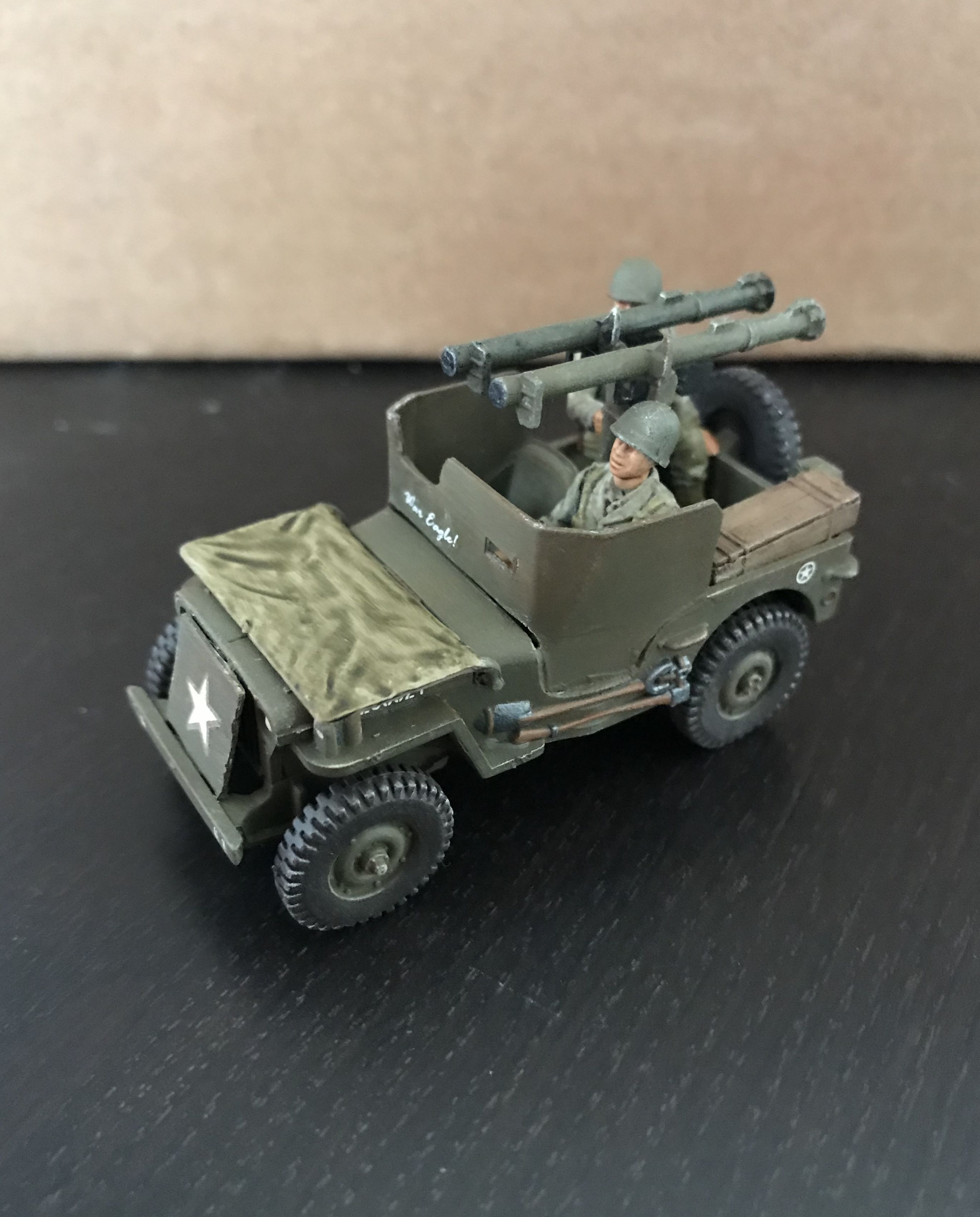 Duel Bazooka Jeep Fabrication Rubicon Bolt Action Miniatures