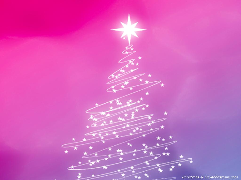 Pink Christmas Tree HD Wallpaper