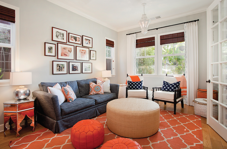 Orange Rugs For Exciting And Lively Room Settings Living Room
