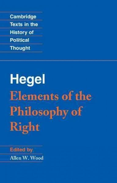 Precision Series Elements of the Philosophy of Right