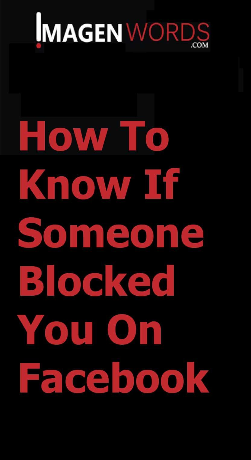 How to know if someone blocked you on facebook imagen