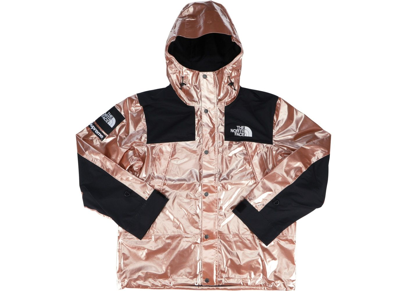 Supreme The North Face Metallic Mountain Parka Rose Gold Pink Jacket Outfit Jacket Outfits Rose Gold Jacket [ 1000 x 1400 Pixel ]
