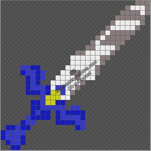 The Legend Of Zelda Master Sword free Hama Beads Perler