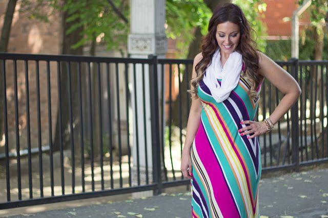 Vestidos de rayas largos para gorditas