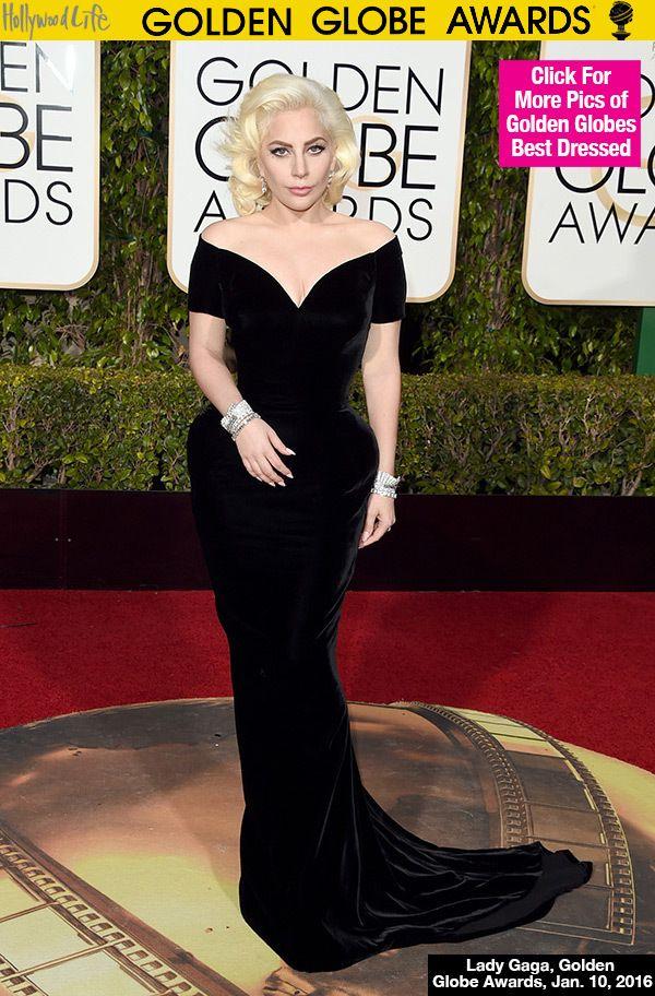 Lady Gaga 2016 Golden Globes Red Carpet
