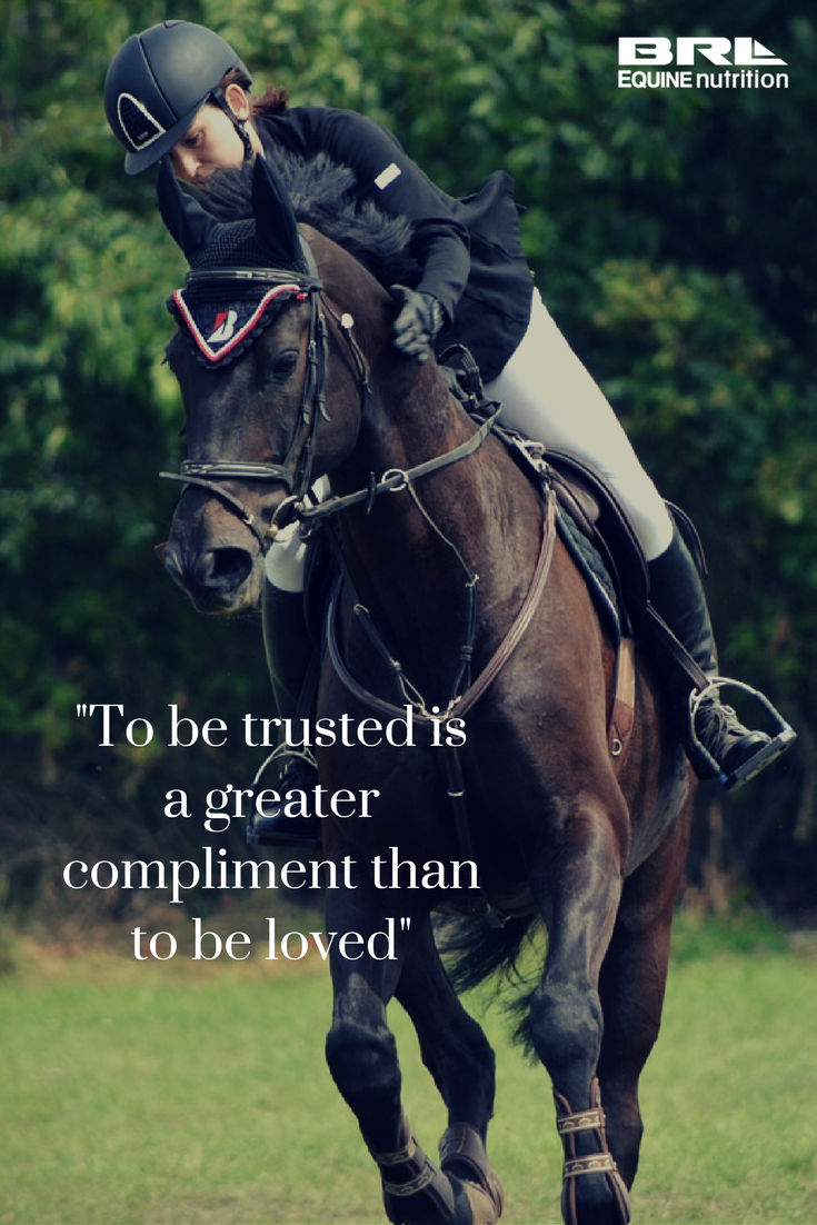 Pics photos quote i wrote for my horse com account s equestrian -  To Be Trusted Is A Greater Compliment Than To Be Loved Horse Quote