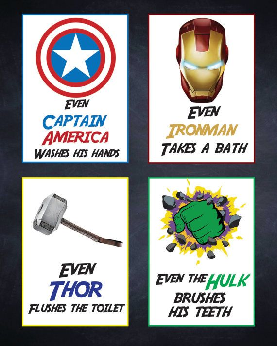 Avengers Bathroom Manners! Love These Adorable Little Signs For Any Bathroom  As A Reminder To