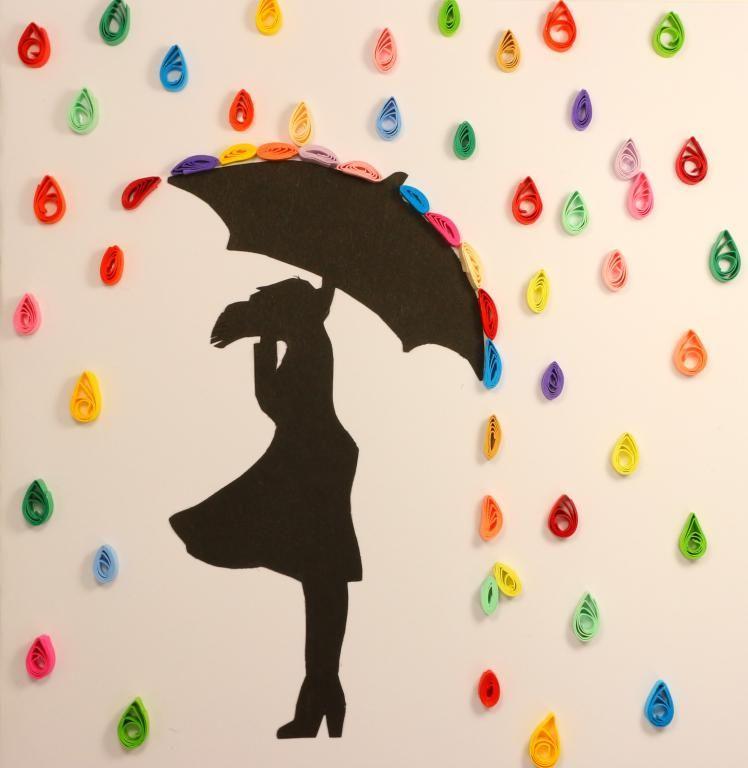 Photo of Modèle quilling facile pour débutant femme sour la pluie