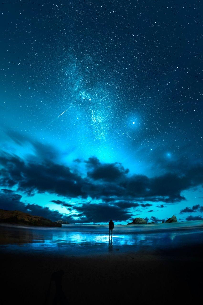 Found Milky Way Over Sutro Baths Cali 美しい風景 風景