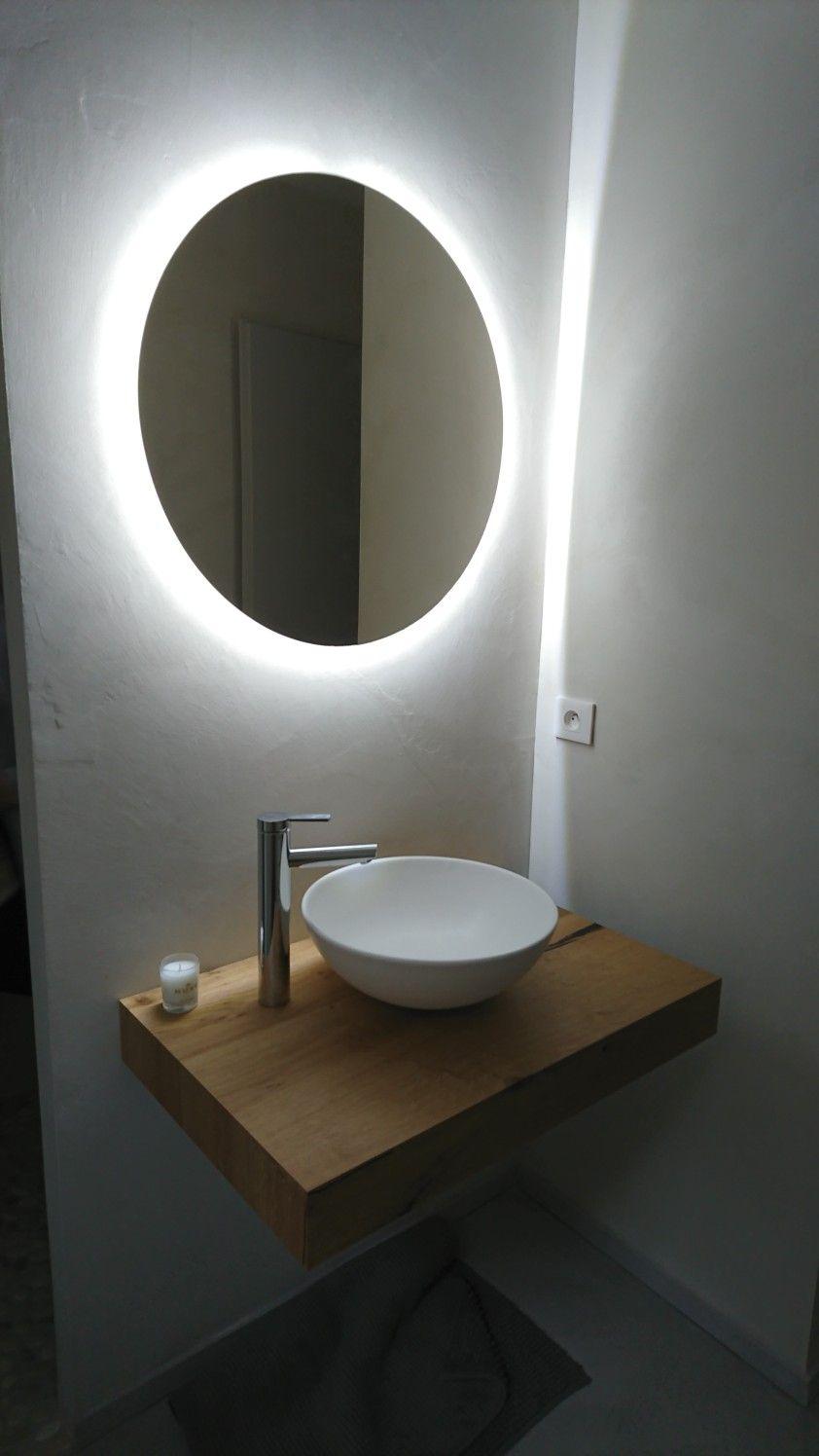 Extraordinaire Miroir retro-éclairé rond diamètre 68cm | Bathroom design en 2019 ZW-13