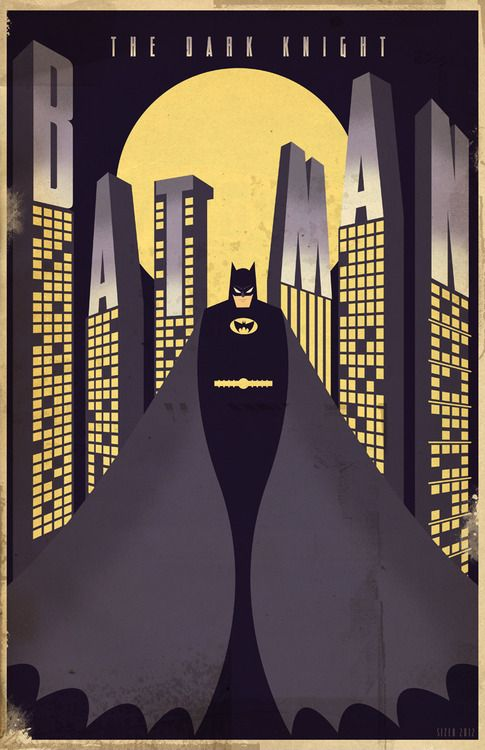 Dark Knight Deco Poster 2012 By Paul Sizer Batman Poster Art Deco Posters Batman Art