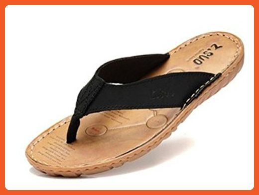 f545c9463afae5 BININBOX Men s Flip-Flops Flat Sandal Breathable Shoe Slippers TPR Sole  (9.5 B(M) US