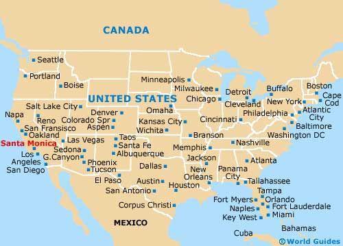 Situacion Santa Monica En Mapa Estados Unidos Mapa Ciudad