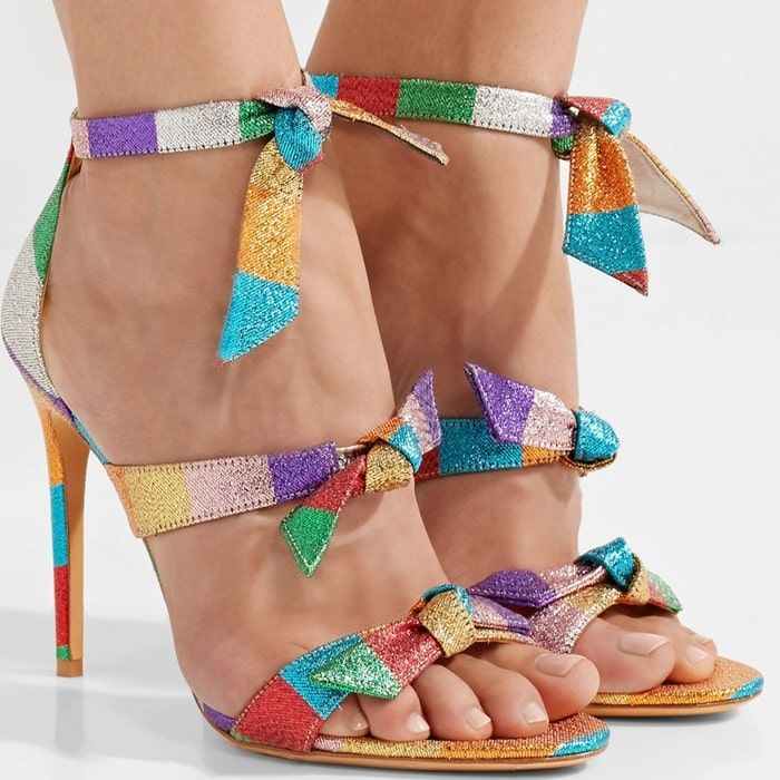 0302efebc57 Alexandre Birman updates its  Lolita  sandals in a burst of shimmering  rainbow colors that feels so right for spring