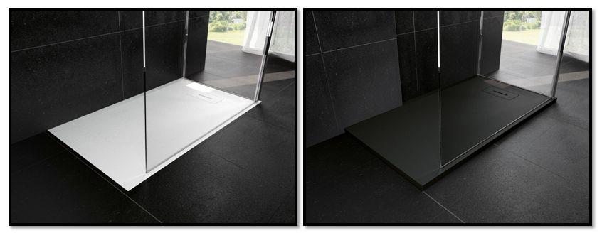 latest receveur de douche novosolid ultraplat en acrylique renforce recoupable et encastrable. Black Bedroom Furniture Sets. Home Design Ideas