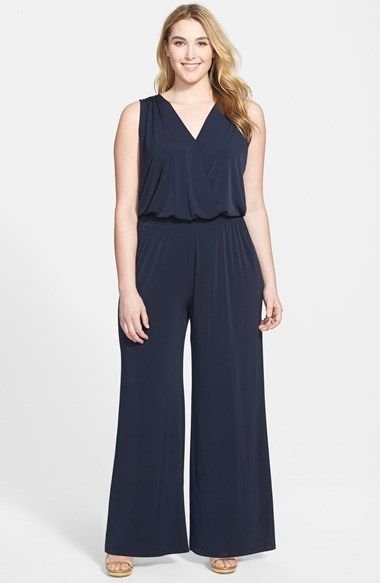 b173b5b0a62a MICHAEL Michael Kors Sleeveless Smocked Waist Jumpsuit (Plus Size)  available at  Nordstrom