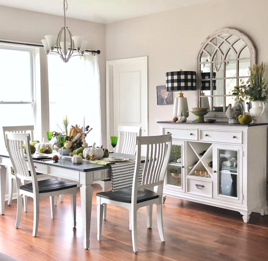 Farmhouse Style Dining Room From Raymour Flanigan White And