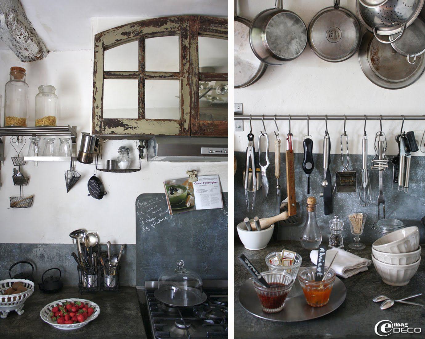 Cuisine du Relais de Roquefereau, paillasse des plans de travail