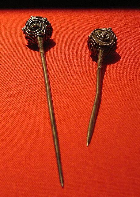 viking pins    museum van oudheden, leiden, the netherlands