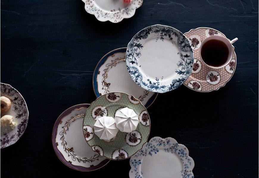 Tablescape Idea: Vintage Tea Party   B-Inspired   BHLDN