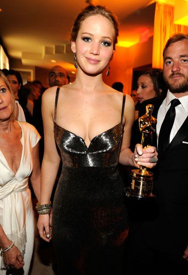 Oscars 2013 Afterparty - Jennifer Lawrence in Calvin Klein Collection