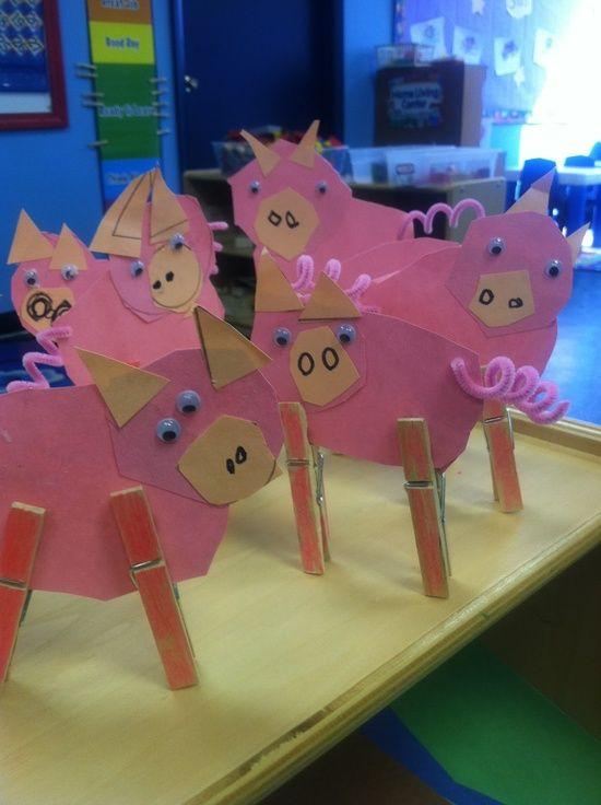 Serendipitous Discovery: Mrs. Blair's Pig Pen.  (Farm Theme) Pig craft.