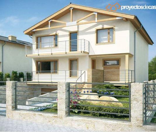 Plano De Moderna Casa De 3 Pisos Con 4 Dormitorios Y