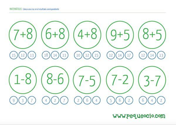 24 fichas de matemáticas para descargar gratis | Escuela de Padres ...