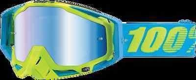 100% 50110-114-02 Racecraft Goggles Barbados Mirror Blue